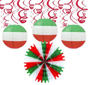 Red, White, Green Décor Kit