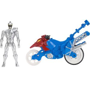 Silver Ranger Dino Stunt Bike Playset 2pc - Power Rangers Dino Super Charge