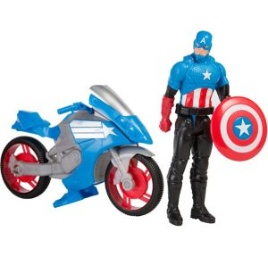 Captain America Action Figure and Battle Cycle 10pc