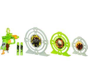 Zombie Strike Nerf Blaster & Target Playset 8pc