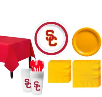 USC Trojans Basic Party Kit for 16 Guests