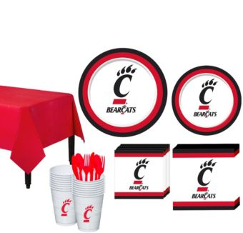 Cincinnati Bearcats Basic Party Kit for 16 Guests