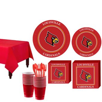 Louisville Cardinals Basic Party Kit for 16 Guests