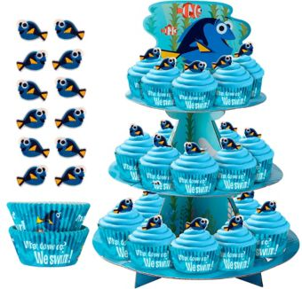 Deluxe Finding Dory Cupcake Kit for 24