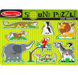Zoo Animals Sound Puzzle Playset 9pc