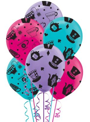Mad Tea Party Balloons 6ct