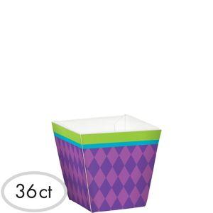 Mini Purple Diamond Cubed Bowls 36ct