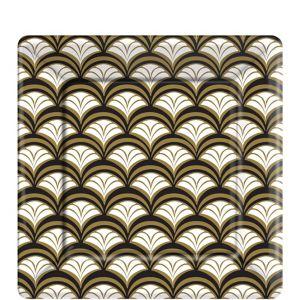 Gold Scalloped Dessert Plates 8ct