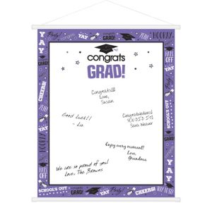 Purple Graduation Sign-In Sheet