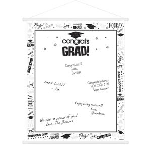 White Graduation Sign-In Sheet