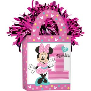 1st Birthday Pink Minnie Mouse Balloon Weight