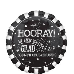 Giant Chalk Hooray Graduation Balloon