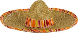 Serape Straw Sombrero