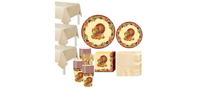 Joyful Thanksgiving Tableware Kit for 50 Guests