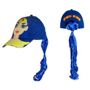 Wonder Woman Baseball Hat with Ponytail - DC Super Hero Girls