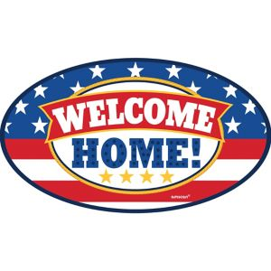 Patriotic Welcome Home Car Magnet