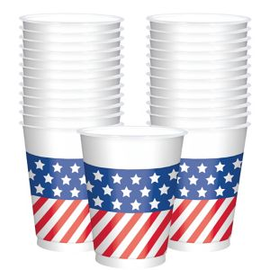 Patriotic American Flag Cups 25ct