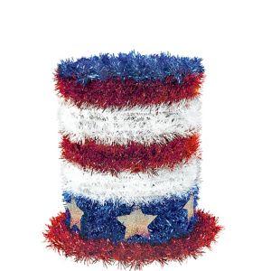 Mini Tinsel Patriotic Top Hat