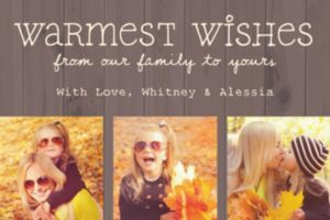 Custom Pine Warmest Wishes Collage Photo Card