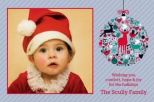 Custom Festive Adornment Photo Card