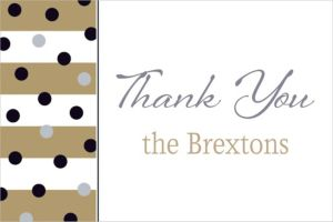 Custom Golden Pattern New Year Thank You Note