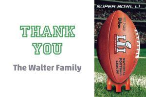 Custom Super Bowl 51 Thank You Note