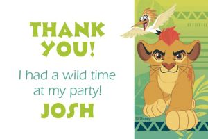 Custom Lion Guard Thank You Note