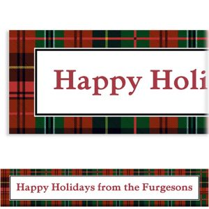 Custom Holiday Plaid Banner
