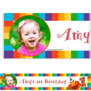 Custom Elmo 1st Birthday Photo Banner