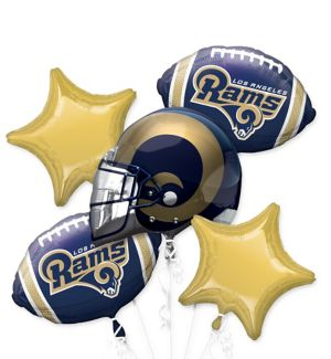 Los Angeles Rams Balloon Bouquet 5pc