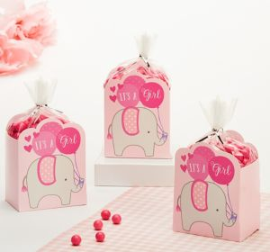 Pink It's a Girl Baby Shower Favor Box Kit 8ct