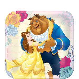 Beauty and the Beast Dessert Plates 8ct