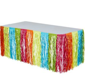 Neon Fringe Table Skirt