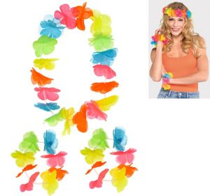 Bright Flower Lei Accessory Set 3pc