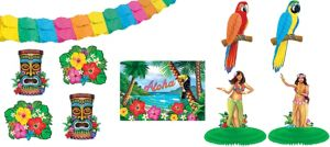 Tropical Tiki Room Decorating Kit 10pc