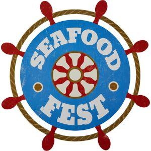 Seafood Fest Ship's Wheel Cutout