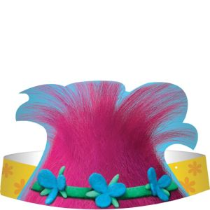 Trolls Paper Hats 8ct