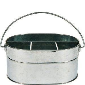 Galvanized Metal Utensil Caddy
