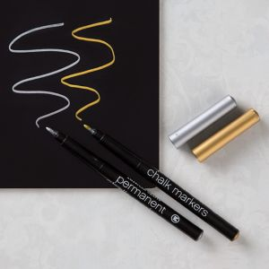 Permanent Gold & Silver Chalk Markers 2ct