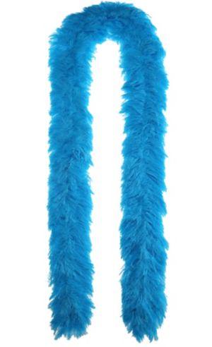 Blue Faux Fur Featherless Boa