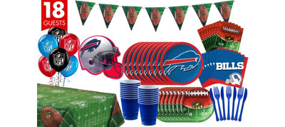 Buffalo Bills Deluxe Party Kit for 18 Guests