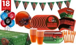 Cleveland Browns Deluxe Party Kit for 18 Guests