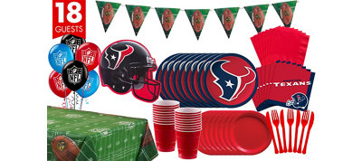Houston Texans Deluxe Party Kit for 18 Guests