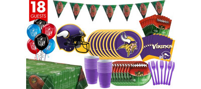 Minnesota Vikings Deluxe Party Kit for 18 Guests