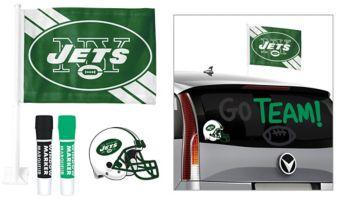 New York Jets Car Decorating Tailgate Kit