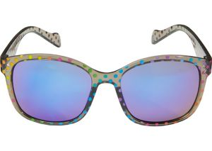 Rainbow Polka Dot Mirrored Sunglasses