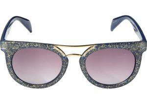 Glitter Blue Sunglasses
