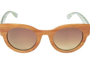 Light Brown Wood Sunglasses