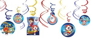 Yo-Kai Watch Swirl Decorations 12ct