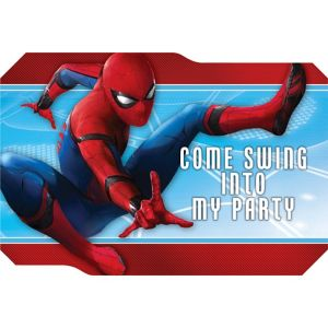 Spider-Man Homecoming Invitations 8ct